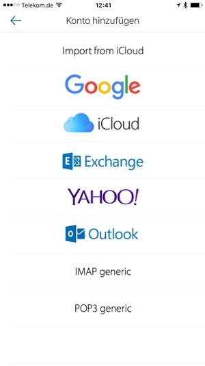 Iphone Email Apps im Vergleich