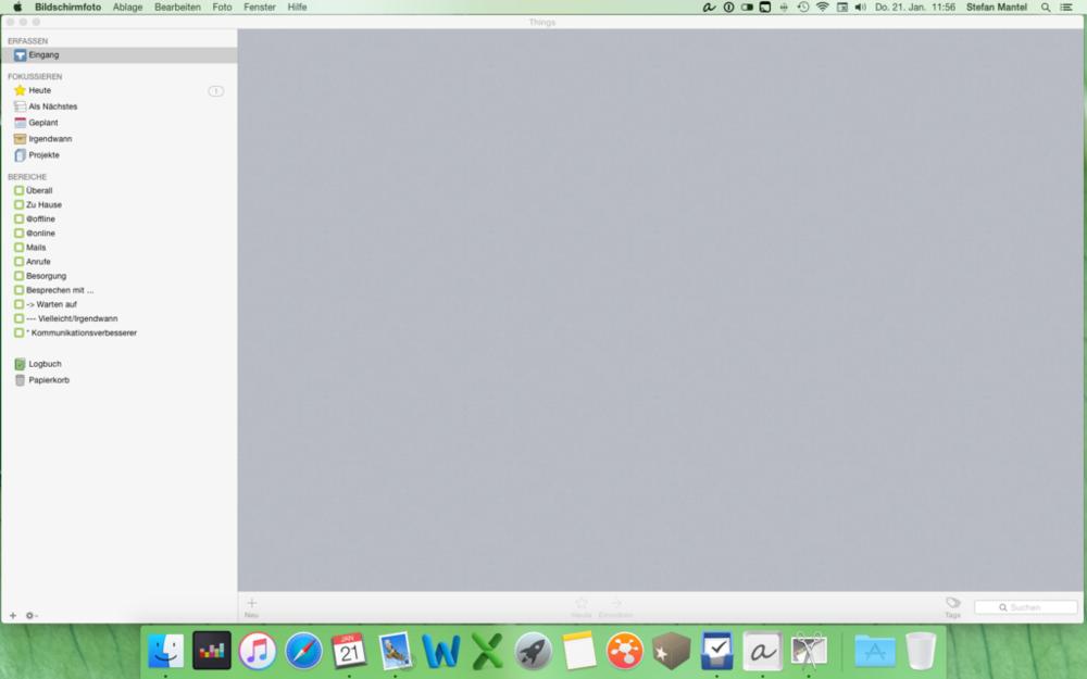 Things auf dem iMac