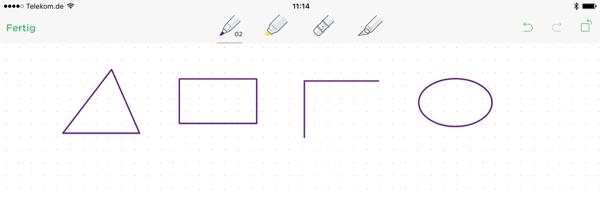 Evernote Zeichen von Geometrischen Formen