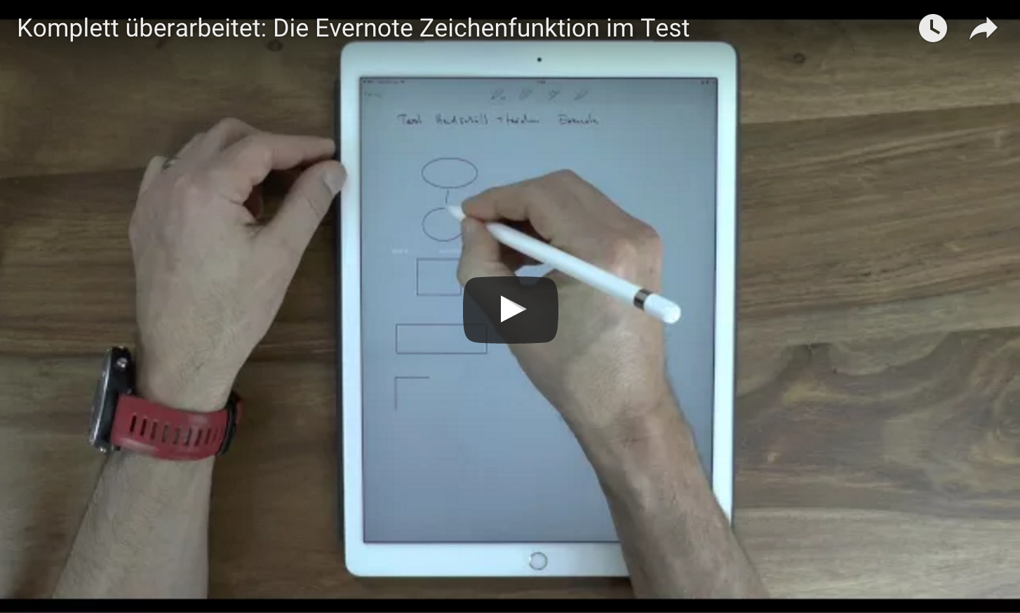 iPAd Pro mit Apple Pencil in Evernote nutzen