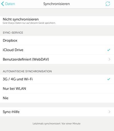 Grid Diary die perfekte app fürs tagebuch