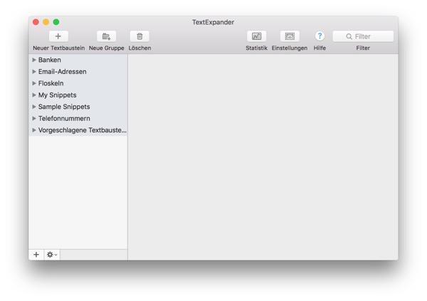 Tool für Textbausteine auf dem Mac: Textexpander 6
