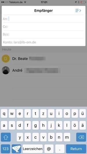 Test der Textexpander Tastatur auf dem iPhone