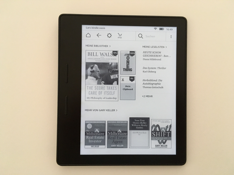 kindle oasis test