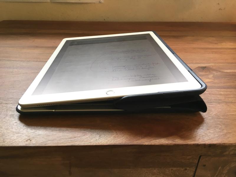 Schreiben auf dem iPAd mit der Logitech Create Tastatur