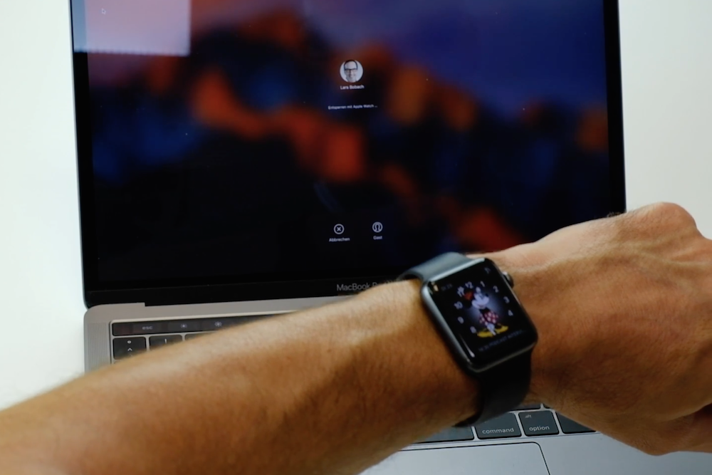 MacBook wir mit Apple Watch entsperrt
