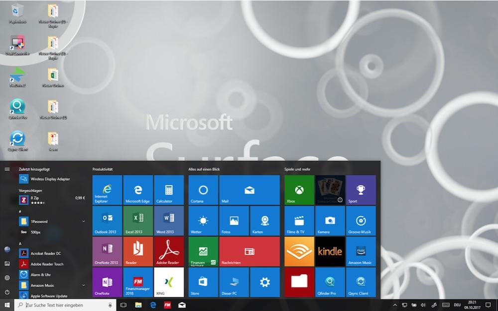 Microsoft Surface im Standard Modus