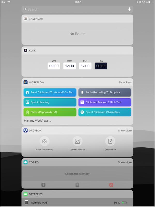 iPad von Gabriel