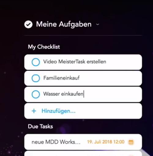 Screenshot my checklist