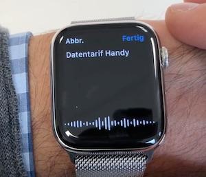 Aufsprechen auf der Apple Watch