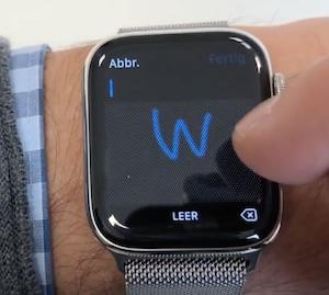 Einzeichnen auf der Apple Watch