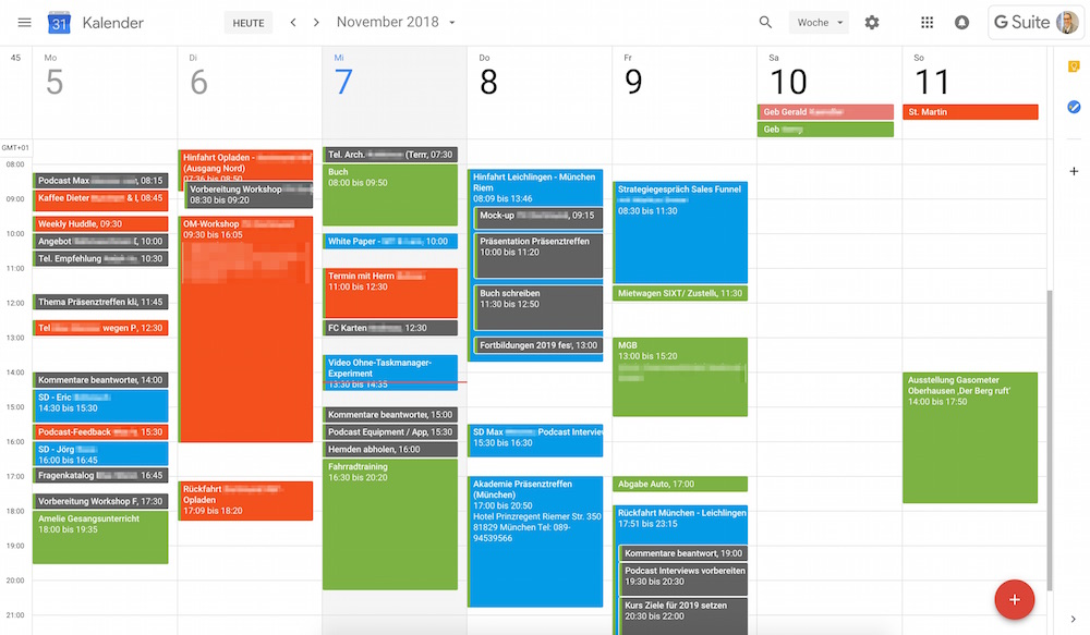 Screenshot Google Kalender Lars