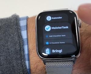 Apple Watch mit Favoritenansicht