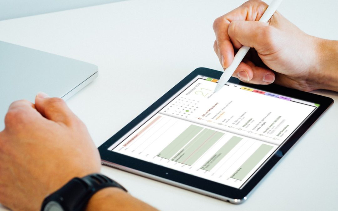iPad mit geöffneter Kalender-App