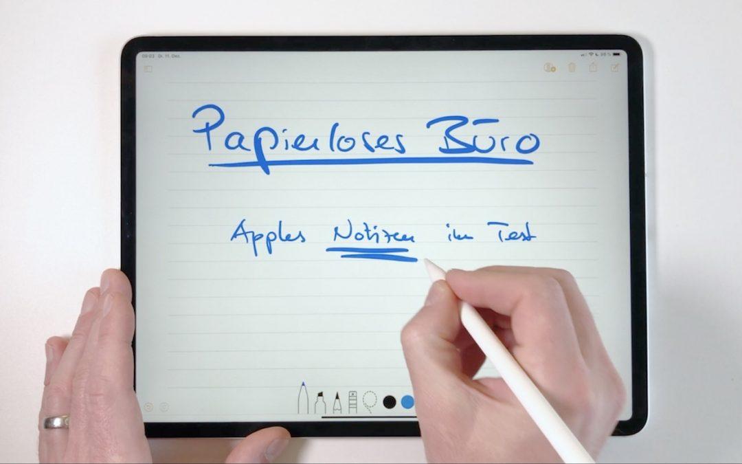 iPad mit Apples Notizen