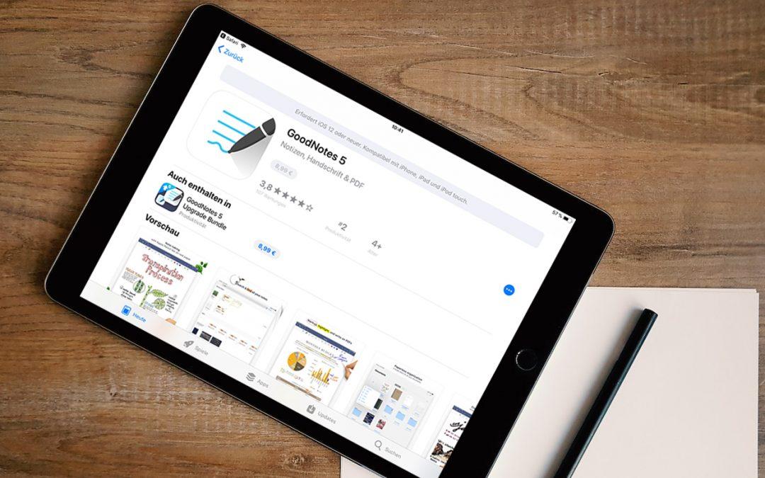 GoodNotes im App-Store auf dem iPad