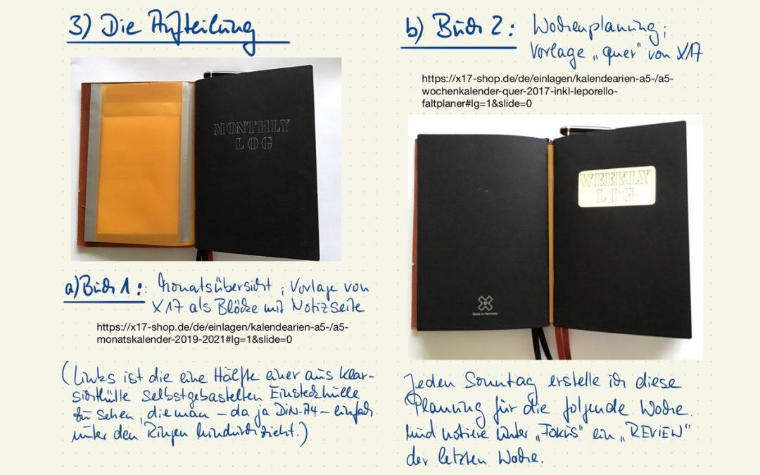Bullet Journal mit dem X17