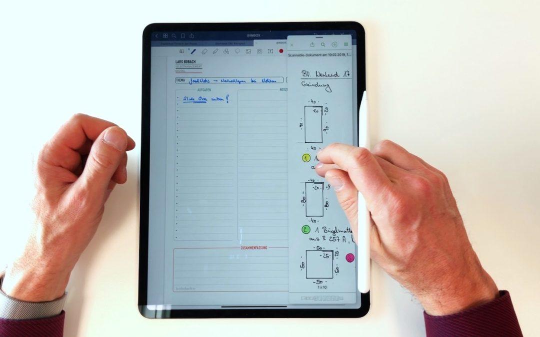 iPad only: Einfaches Nachschlagen beim Notieren