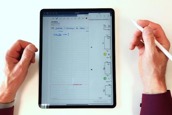 Slide over auf dem iPad