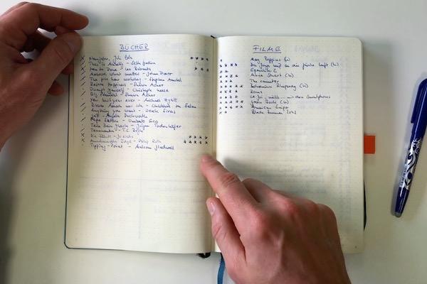 BuJo Buch- und Filmliste
