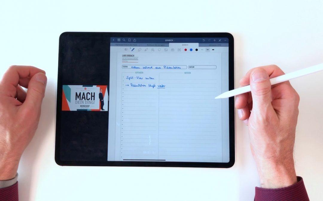 iPad only: Notizen während einer Präsentation