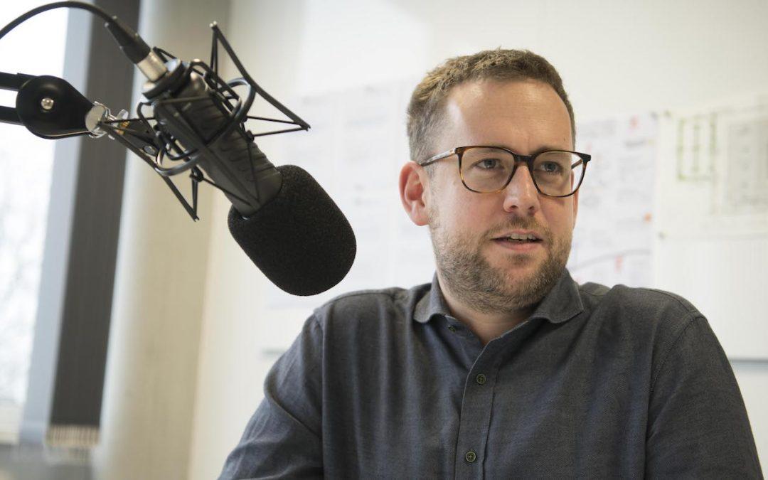 Max Meister beim Podcast