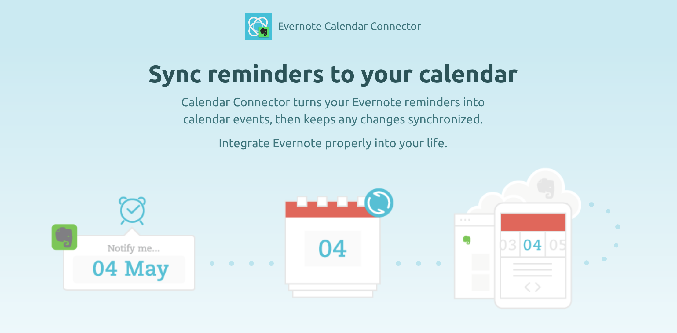Evernote-Sync zu iCal