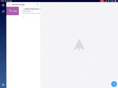 Screenshot Spark E-Mail verschieben