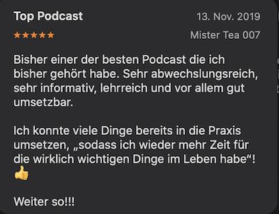 Feedback zum Podcast Selbstmanagement.Digital.