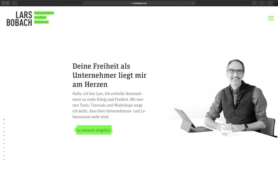 Der Relaunch von larsbobach.de im Fokus