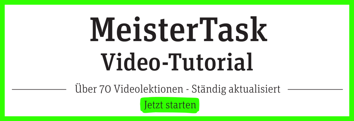 MeisterTask Video Tutorial